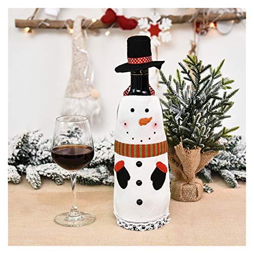 WanXingY Bottiglia di Vino Rosso Tappo Borsa, Bottiglia di Vino da Tavola di Natale del Regalo della Decorazione del Partito della Famiglia di Santa Decoration (Colore : A)