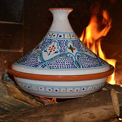 Tajine Marocain turquoise - D 31 cm traditionnel