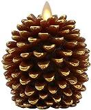 Luminara Pine Cone Candles Luminara Flameless Candles Unscented Brown with Timer