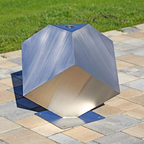 CLGarden Edelstahl Element Würfel stehend Skulptur für Garten Deko DIY Springbrunnen
