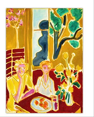 DPFRY Leinwandbild Home Decoration Print Leinwandbilder Wandbilder Poster Gemälde Französisch Henri Matisse Mädchen Mm91A 40X60Cm Ohne Rahmen