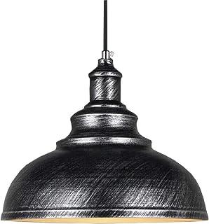 Rétro Suspensions Luminaires-Plafonnier Lustre Abat-jour Ø29cm-Industrielle Métal Lampe de Plafond éclairage Intérieur (Gris)