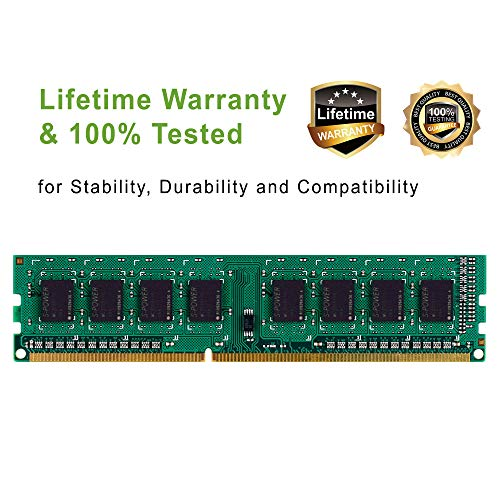 Silicon Power DDR3 16GB (2 x 8GB) 1600MHz (PC3 12800) 240-pin CL11 1.35V / 1.5V Unbuffered UDIMM PC Computer Desktop Memory Module Ram Upgrade