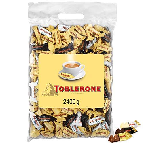 Toblerone Mixed Minis 1 x 2,4kg, Feine Schweizer Schokolade in drei Sorten mit Honig- und Mandelnougat