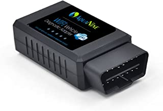 AquaNine OBD2 OBDII WiFi Car Diagnostic Scanner Code Reader Scan Tool for iOS, Android and Windows Devices - Read and Clear CEL Trouble Codes - Monitor Engine Performance with What The Pros Uses!