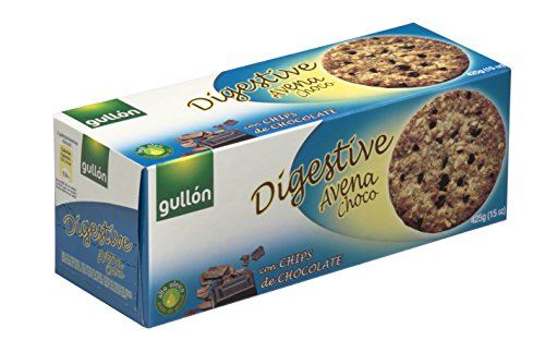 Gullón, Biscotti Digestive, Avena Frumento e Cioccolato, Confezione da 3, 425 gr