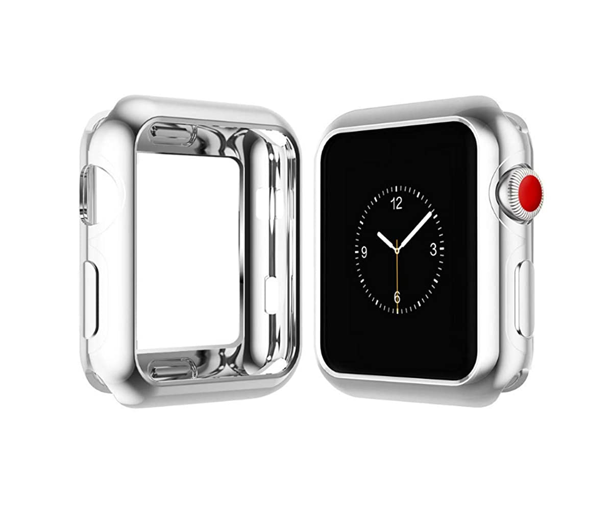 Case for Apple Watch 44mm 40mm 42mm 38mm Series 4 Soft Flexible Case Ultra Thin Protective Bumper for iWatch Series 3/2/1