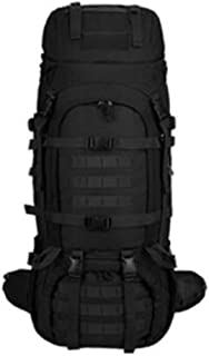 ACSH Tactical Backpack, Multi-Function Outdoor Male Tactical Backpack, Large-Capacity Mountaineering Bag Waterproof, Black -70+10L (Color : Black)