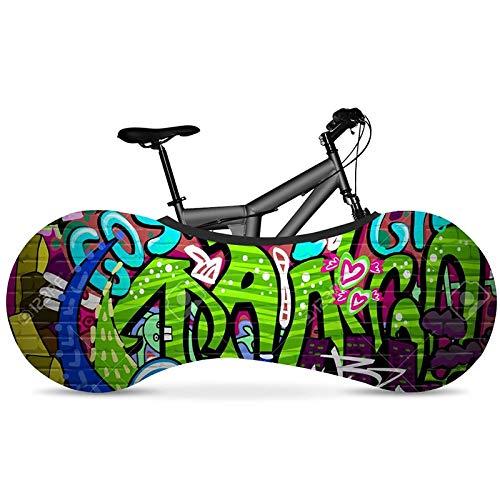 Protección De Bicicletas Hip-hop Graffiti serie de bicicletas de interior de la cubierta de polvo seda de la leche de Super Stretch paño de la bicicleta Cubierta de la Llanta de Mtb Accesorios Cubiert