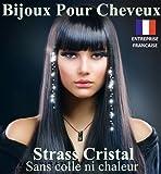 STRASS CHEVEUX CRISTAL TRANSPARENT (3 SACHETS DE 8 STRASS) AVEC LE SYSTEME DE FIXATION ORNES DE STRASS SWAROVSKI QUALITE...