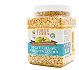 Pride Of India - Indian Split Yellow Chickpea Lentils - Protein & Fiber Rich Chana Dal, 1.5 Pound Jar