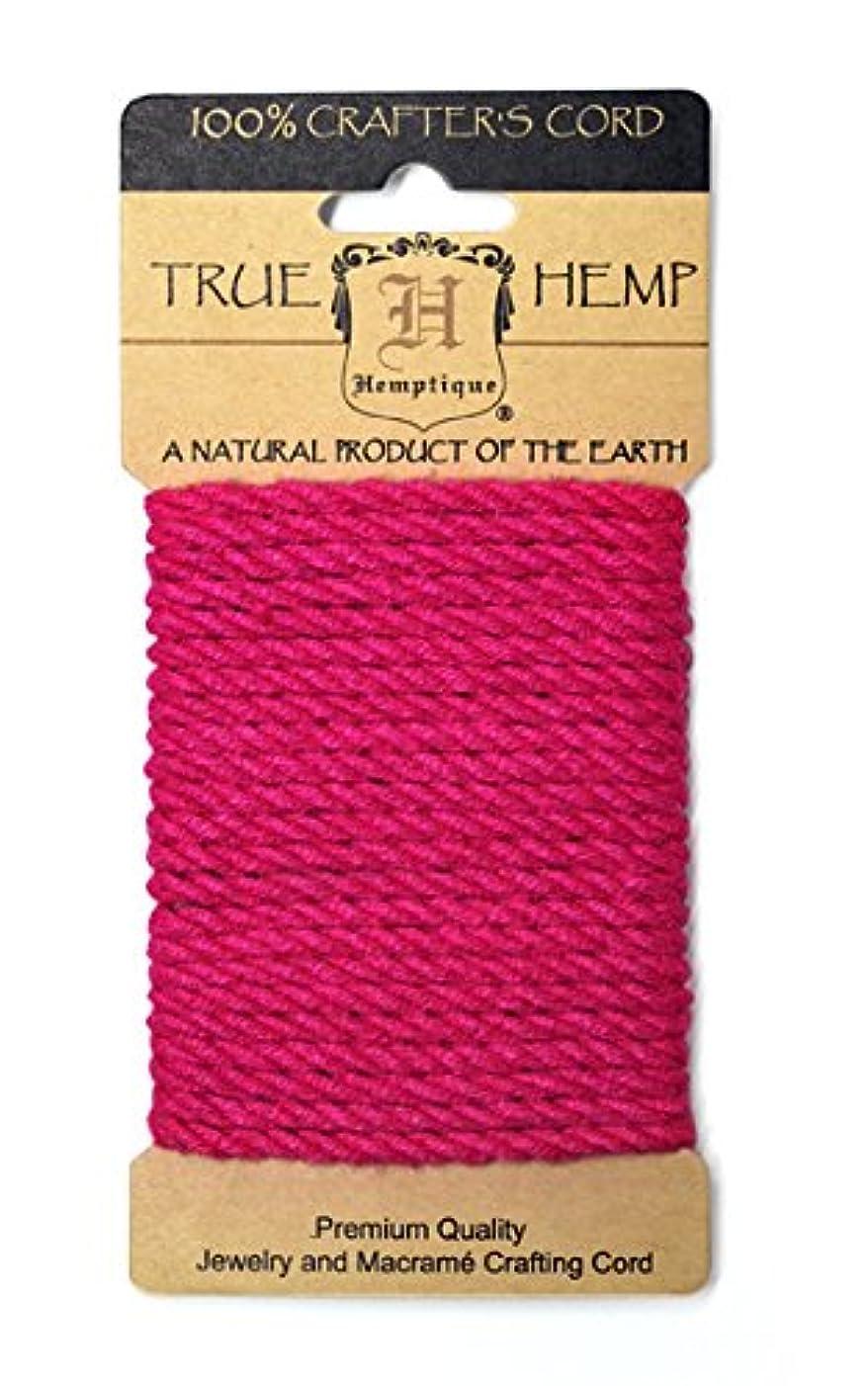 Hemptique HRC4M-NP Hemp 4mm Rope, Neon Pink, 9.84-Feet