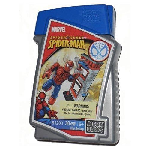 Mega Bloks Spider Man City Swing Set