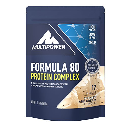 Multipower Formula 80, Sabor Cookies and Cream - 510 gr