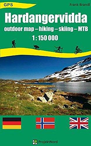 Hardangervidda Outdoor Map Hiking Skiing Mtb 1 150 000 Gps