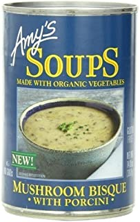 Amy's Organic Soups 14 Oz (Pack of 4) (Mushroom Bisque with Porcini)