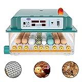 Incubator Incubatrice per Uova Incubatrice di Piccole Dimensioni 36 Pollame con Controllo Automatico della Temperatura Intelligente, Universale Digitale con Design della Base del Lav