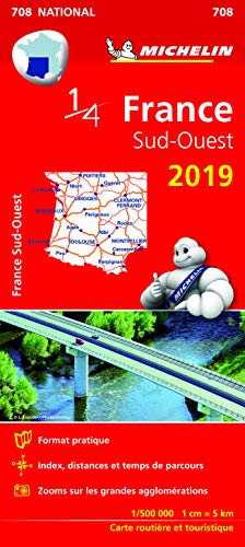 Carte France Sud-Ouest Michelin 2019