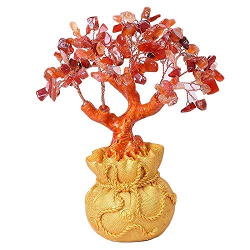 HEEGNPD Glückskristall Geld Baum Figur Feng Shui Mini Glückskristall Büro Haus Dekoration Tisch Ornamente Handwerk Geburtstagsgeschenke,1