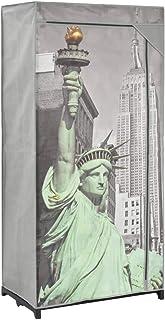 Armarios y Almacenamiento Armarios roperosArmario de Tela New York 75x45x160 cm