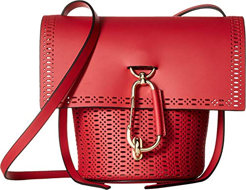 Reboot your style for the season with the stunning geometry of the ZAC Zac Posen™ Belay Crossbody. Crossbody handbag made from genuine calfskin leather. Top spacious opening with fold over flap decorated with perforated patterns and lobster claw clas...