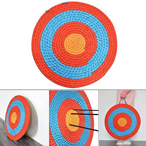 ZSHJG Dianas para Tiro con Arco Objetivo De Flecha Paja Redondas Objetivo Tradicional Sólido Paja Redonda Arco de Color Cuerda Objetivo Cara Espesor 2-8cm (1 Capa: 2cm)