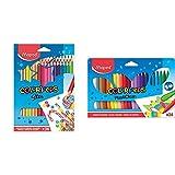 Helix Maped - Lápiceros de (36 unidades) + Estuche de 24 ceras duras Color'Peps