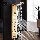 GJR-HS Panel de Ducha Dorado Luz LED Baño Ducha de baño Columna Torre Pantalla...