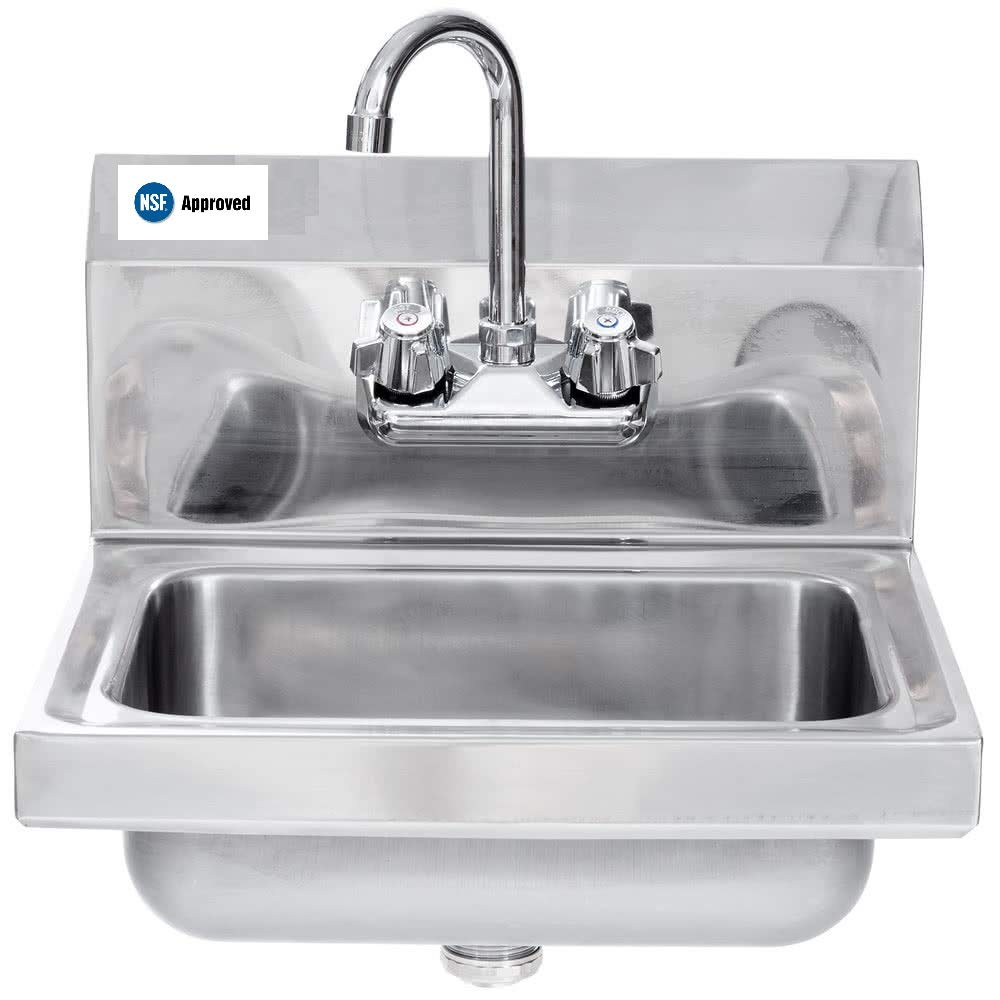 Stainless Steel Commercial Hand Sink 16.5