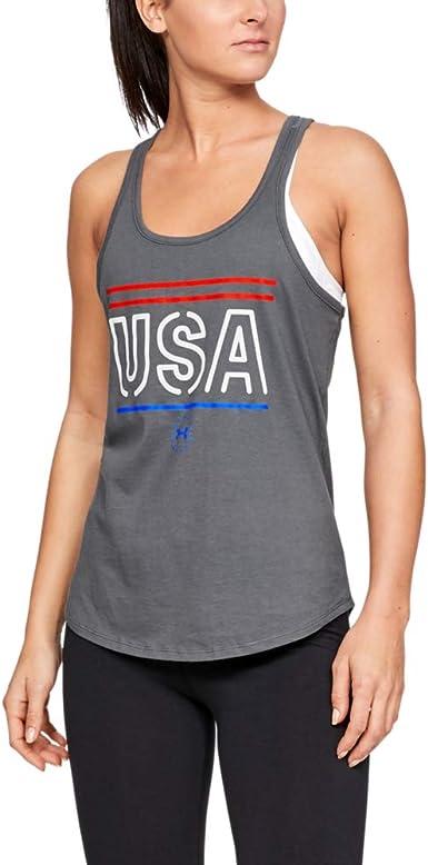 Under Armour 1327578437LG Freedom USA Women Blue S M L /& XL Athletic Shirt Tank