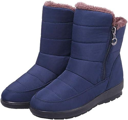 HhGold Stiefel de Nieve para damen Hausschuhe Impermeables Antideslizantes de algodón. (Farbe   Blau, tamaño   39EU)