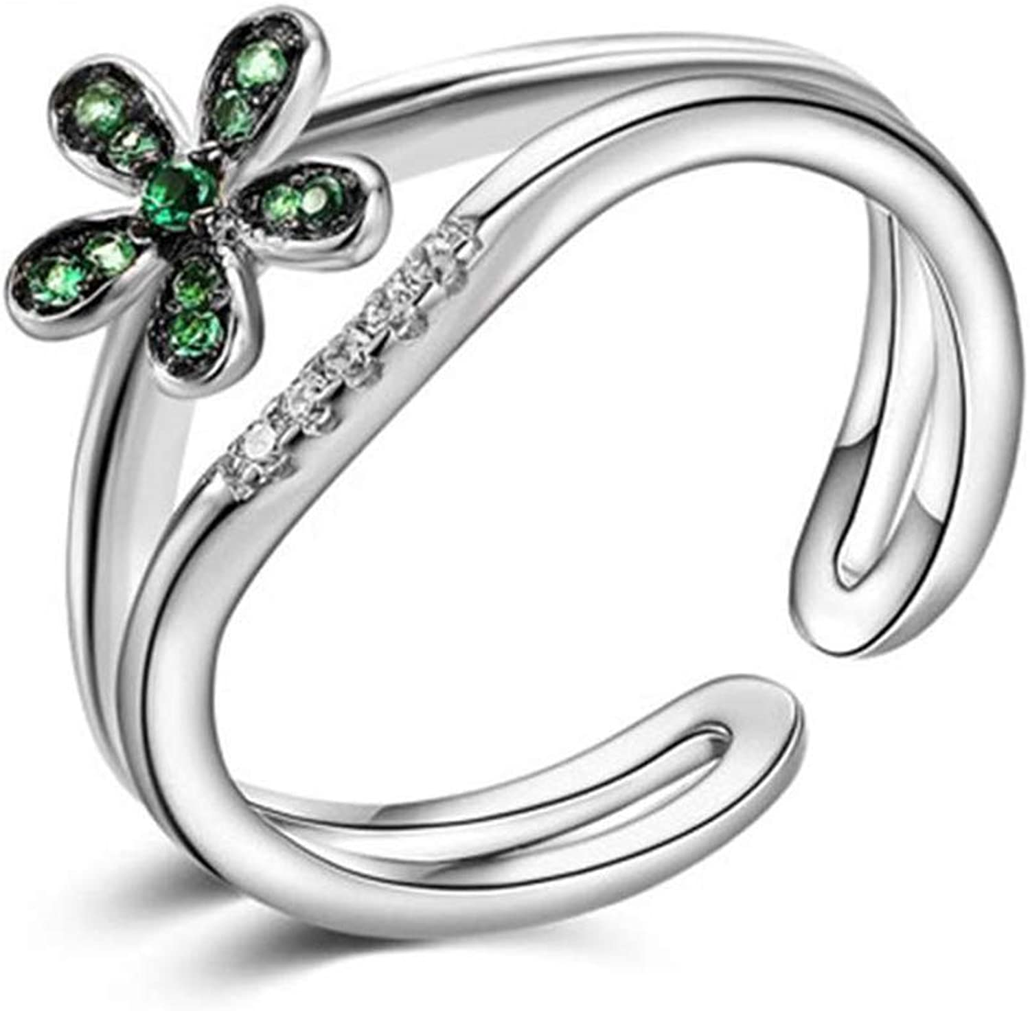 DTZH Rings Jewellery Ring Lady Ring S925 Silver Blossom Opening Ring Give it to Dear People