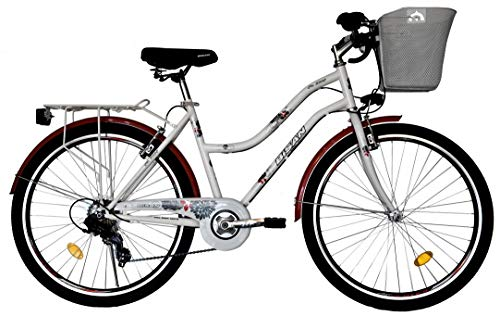 T&Y Trade 28 Zoll Mädchen Damen City Fahrrad Damenfahrrad Cityfahrrad Citybike Cityrad Mädchenfahrrad Bike Rad 7 Gang 5300 Weiss