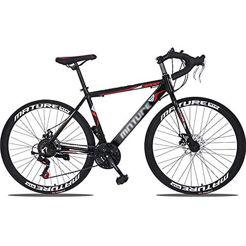 PBTRM Bicicleta Carretera 700C Bicicleta Ciudad Freno Disco Mecánico 30 Velocidades Bikes Sport Marco Aleación Aluminio