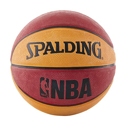 Check Out This Spalding NBA Mini Rubber Outdoor Basketball, Red/Orange