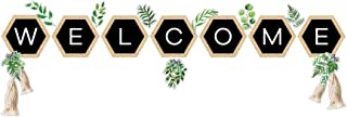 Schoolgirl Style Simply Boho Welcome Bulletin Board Set—Greenery Accents, Hexagons, Tassel Cutouts for Bulletin Boards, Ho...