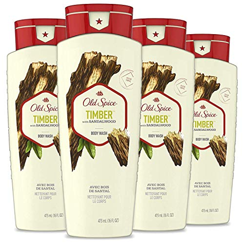 Old Spice Fresher Collection Men#039s Body Wash Timber 16 Fl Oz Pack of 4