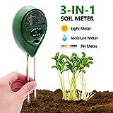 [2019 Upgraded] Soil Moisture Meter - 3 in 1 Soil Test Kit Gardening