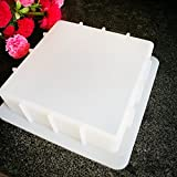 Biowow Regular Silicone Loaf Soap Mold For Homemade DIY Soap Making Capacity 1100ML Color-Transparent White