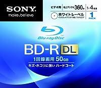 SONY ビデオ用BD-R 追記型 片面2層50GB 4倍速 ホワイトプリンタブル 単品 BNR2VCPJ4