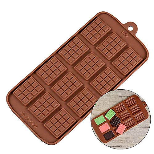 New Product 12 Even Chocolate Mold Silicone Mold Fondant Molds DIY Candy Bar Mould Cake Decoration Tools Kitchen Baking Accessories
