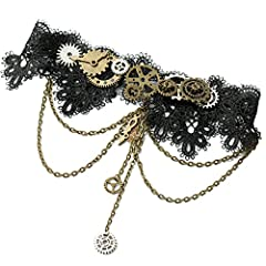 Lace,gears and chains Victorian Industrial Age style Handmade gift for steampunk girls Package includes one set of necklace Accessory for wedding,party,festival,cosplay and more
