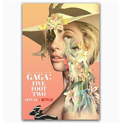 baiyinlongshop Poster Und Drucke Lady Gaga Fünf Fuß Zwei Netflix Documenta Art Poster Leinwand Malerei Wohnkultur Kein Rahmen 40X60Cm