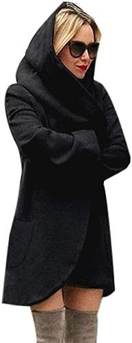 HCMONSTER Manteau de Laine Manteau d'hiver de Mode Chaud Manteau à Capuchon avec Poches Slim Femmes Manteau Long Manteau Coupe-Vent Femme mélange Manteau