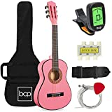 Best Choice Products 30in Kids Acoustic Guitar Beginner Starter Kit with Electric Tuner, Strap, Case, Strings - Pink