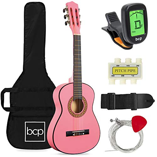 7. Best Choice Products 30in Kids Acoustic Guitar Beginner Starter Kit