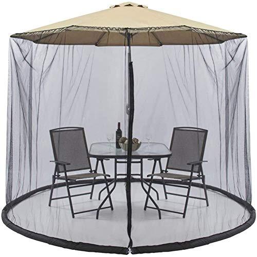 Outdoor Mosquito Net Tent Mosquito net for parasol, Outdoor Garden Umbrella Table Screen Umbrella Gazebo Mosquito Net,Umbrella Cover Mosquito Netting Screen with Zippered Enjoy Outdoor Need Bug Nettin
