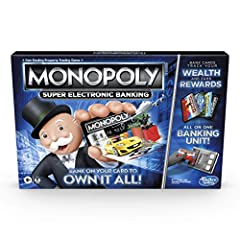 GET REWARDS BACK: Choose your rewards! Each token in the Monopoly Super Electronic Banking board game has a matching bank card that offers a unique reward by performing a certain action in the game BANKING UNIT: The Monopoly Super Electronic Banking ...