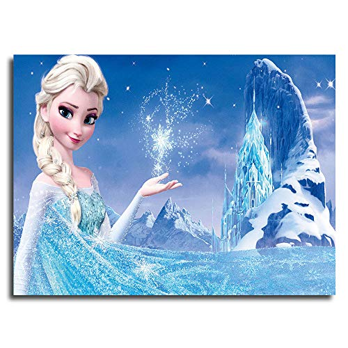 Frozen Aisha Castle Background Poster Snow Queen Elsa Wall Art For Kitchen Canvas Wall Pictures 24x18inch