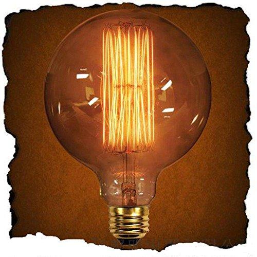 TY@ Vintage Edison Glühbirne Lampe G125 groß-Globe (40W, E27, 220V, Handgewickelt) Antike Lampe Deko Glühbirne , 2pcs